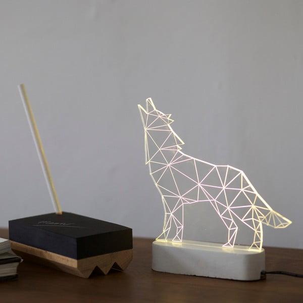 Náladové světlo Wolf, šedý podstavec