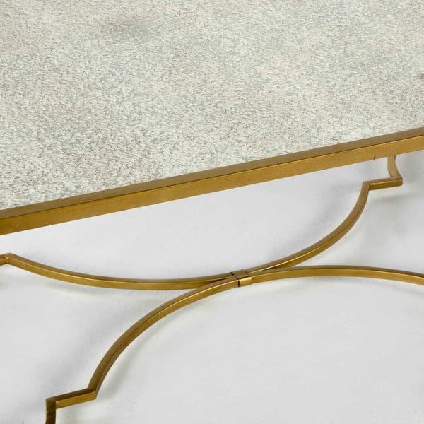 Kovový konferenční stolek ve zlaté barvě Thai Natura Chai