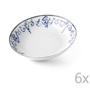 Sada 6 polévkových talířů Antico Blue, 20.5 cm