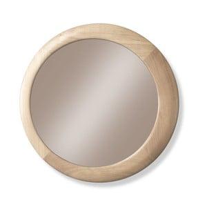 Nástěnné zrcadlo s rámem z dubového dřeva Wewood - Portuguese Joinery Luna, Ø90cm