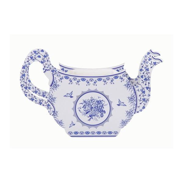 Papírová váza Porcelain Blue