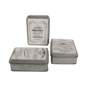 Set tří plechových krabiček Pharmacy, hranaté