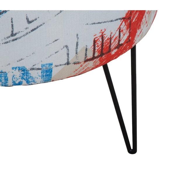 Taburet s konstrukcí z borovicového dřeva Mauro Ferretti Times Square, ⌀40cm