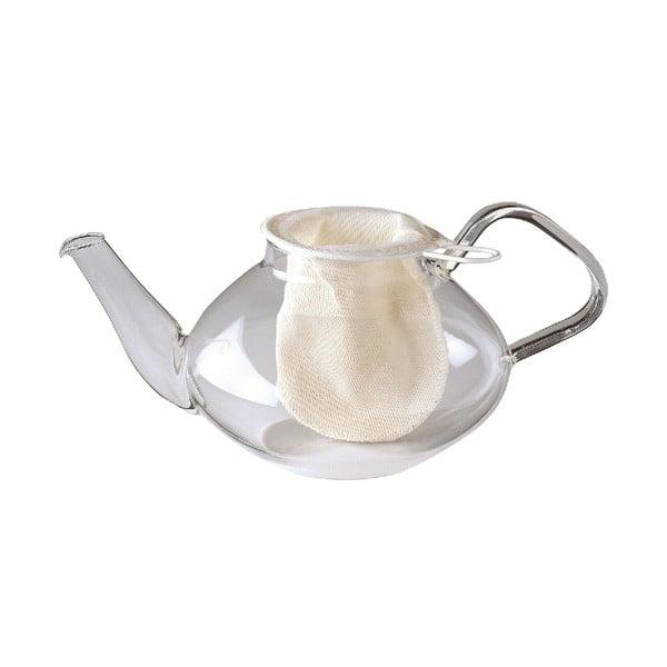 Biela bavlnená čajová sieťka Westmark, ø 9 cm