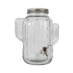 Skleněná nádoba s pípou Fisura Cactus Cristal Transparente