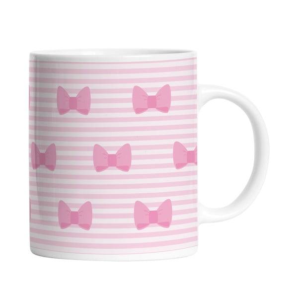 Keramický hrnek Pink Bows, 330 ml