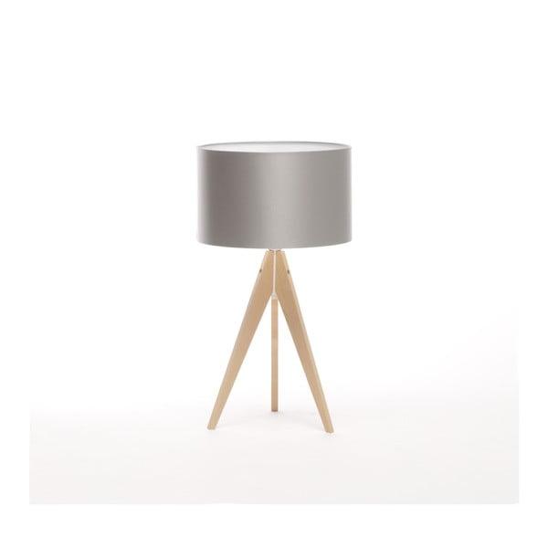 Stříbrná stolní lampa Artist, bříza, Ø 33 cm