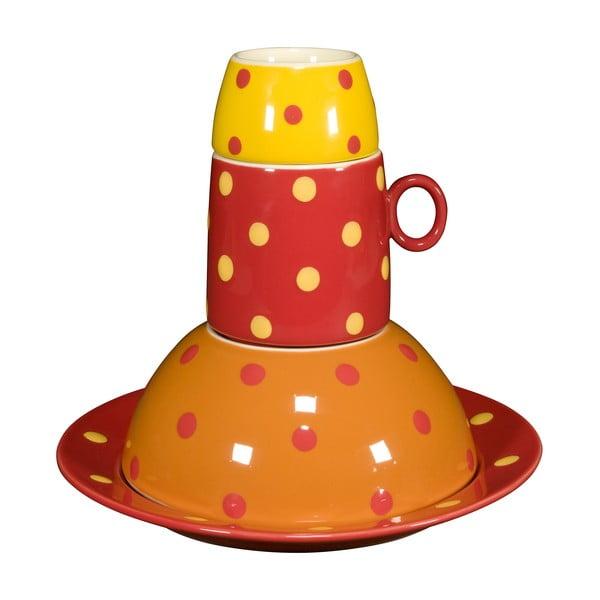 Dětská porcelánová sada Ramponi Baby Orange