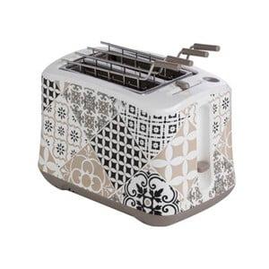 Šedý toaster z nerezové oceli Brandani Alhambra, 25 x 16 cm