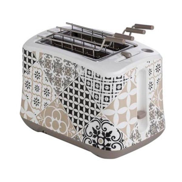 Szary toster ze stali nierdzewnej Brandani Alhambra, 25x16 cm