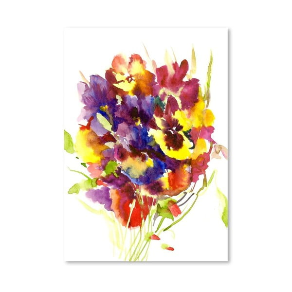 Plakát Colorful Pansies od Suren Nersisyan