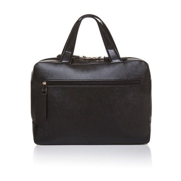 Kožená kabelka do ruky Marta Ponti Bowling, černá