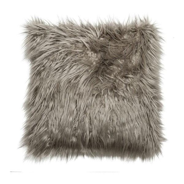 Polštář Faux Fur Grey, 45x45 cm
