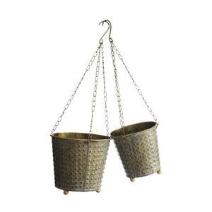 Set 2 ghivece suspendate din metal  Ixia Garden