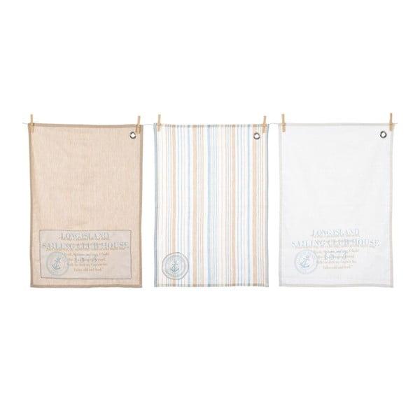Set kuchyňských utěrek Stripe Cott, 3 ks, 50x70 cm