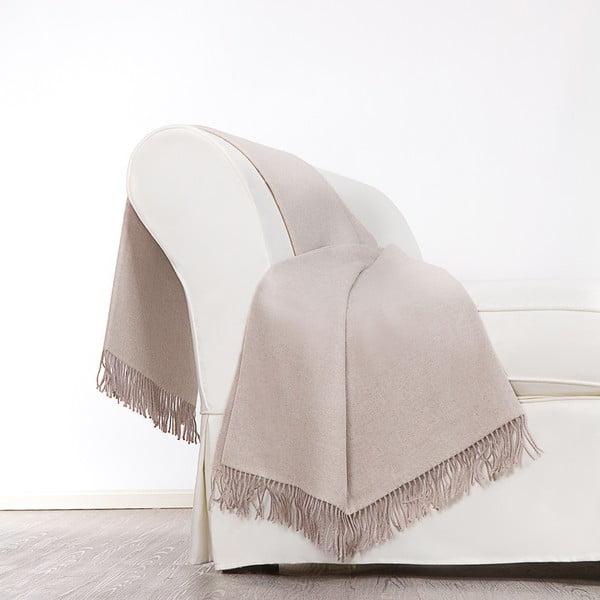 Vlněný pléd Rialto 130x180 cm, krémový
