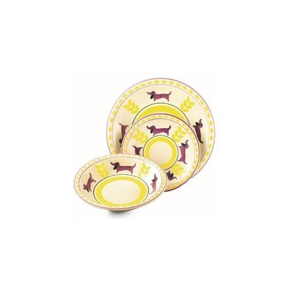 Hluboký talíř Arca žlutý, 21 cm