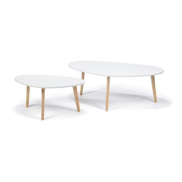 Masă de cafea loomi.design Skandinavian, lungime 84,5 cm, alb