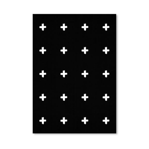 Plakát Crosses On Black