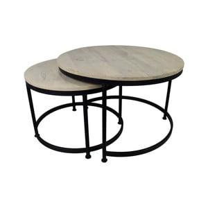 Sada 2 konferenčních stolků z kovu HSM collection, 60 x 45 cm
