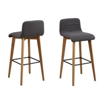 Set 2 scaune de bar Actona Arosa, gri