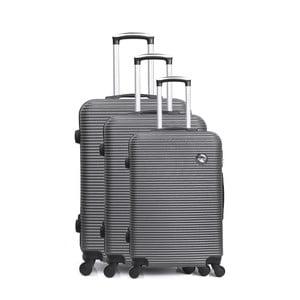 Sada 3 šedých cestovních kufrů na kolečkách Bluestar Vanity