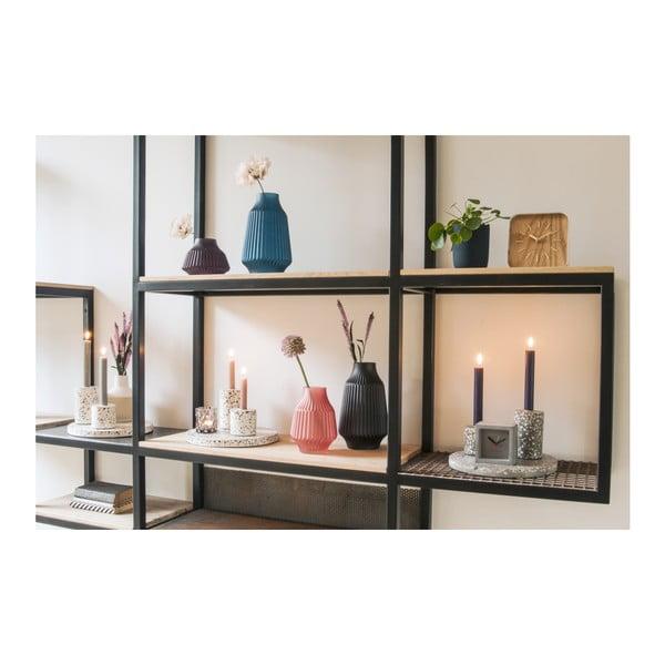 Fialová skleněná váza PT LIVING, Ø 16 cm