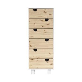 Comodă cu șase sertare Karup Design House White/Natural de la Karup Design