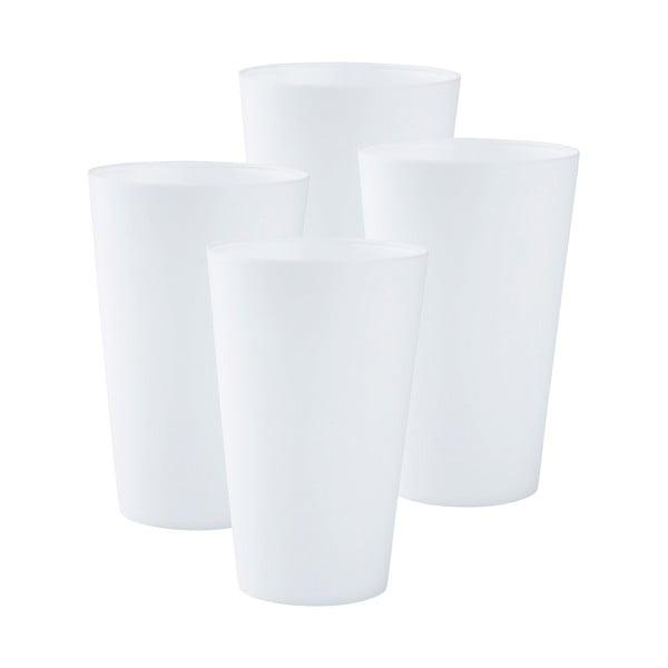 Sada džbánu a 4 hrnků, bílá
