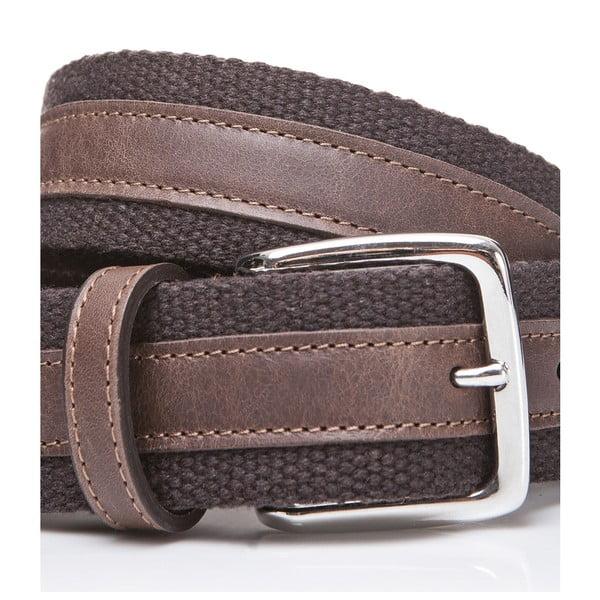 Kožený pásek Brown Fabric, 115 cm