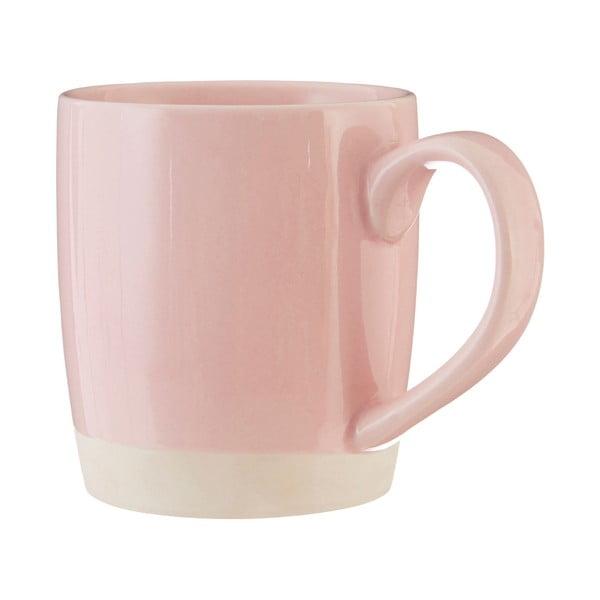 Růžový kameninový hrnek Premier Housewares, 370 ml