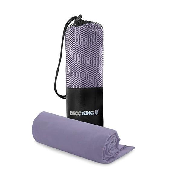 Set světle fialové rychleschnoucí osušky a ručníku DecoKing EKEA, 70 x 140 cm + 30 x 50 cm