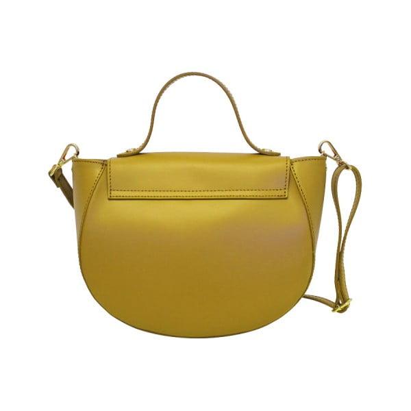Žlutá kožená kabelka Lampoo Kucca