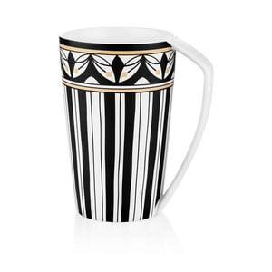 Černobílý hrnek z kostního porcelánu The Mia Maroc Sidi, 500ml