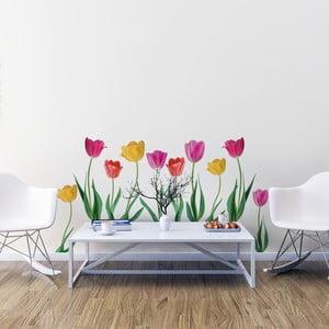 Sada samolepek na zeď Ambiance Spring Tulips