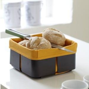 Košík na chleba Steel Function Roma, černá/oranžová
