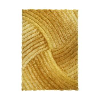 Covor Flair Rugs Furrow Ochre, 80 x 150 cm, portocaliu de la Flair Rugs