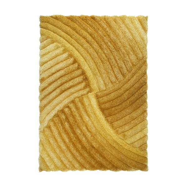 Oranžový koberec Flair Rugs Furrow Ochre, 160 x 230 cm