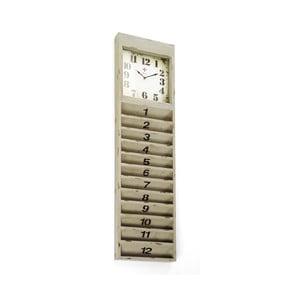 Nástěnné hodiny s přihrádkami na dopisy Cartolina