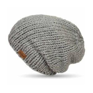 Căciulă tricotată manual DOKE Grey Beanie
