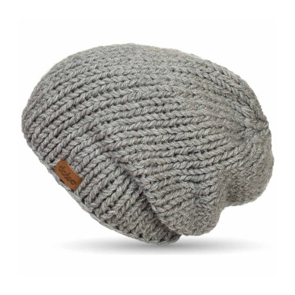 Ručně pletená čepice DOKE Grey Beanie