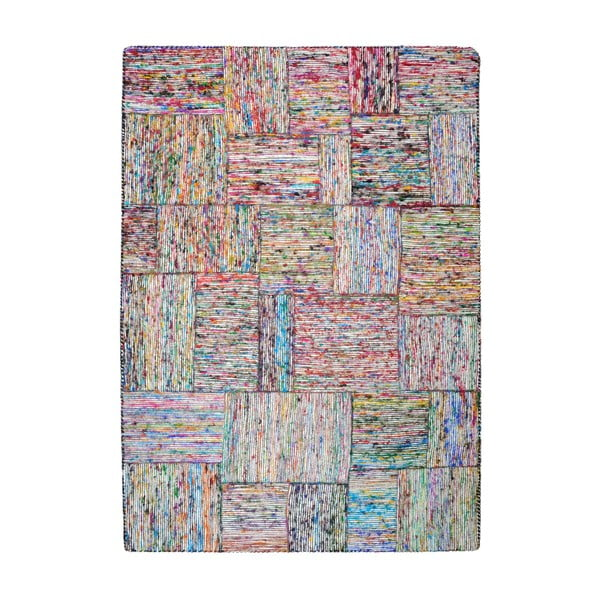 Koberec z recyklovaného hedvábí Silk Lane Multi, 160x230 cm