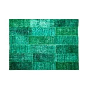 Vlněný koberec Allmode Green, 150x80 cm