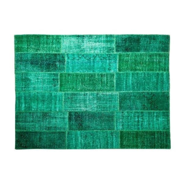 Vlněný koberec Allmode Green, 200x140 cm