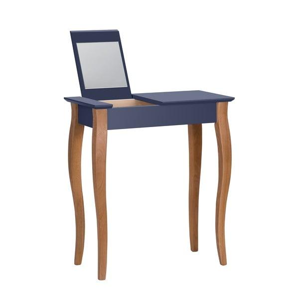 Dressing Table grafitszürke fésülködőasztal tükörrel, hosszúság 65 cm - Ragaba