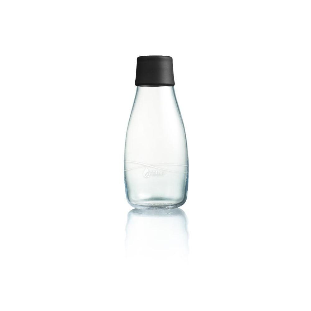 Černá skleněná lahev ReTap s doživotní zárukou, 300 ml