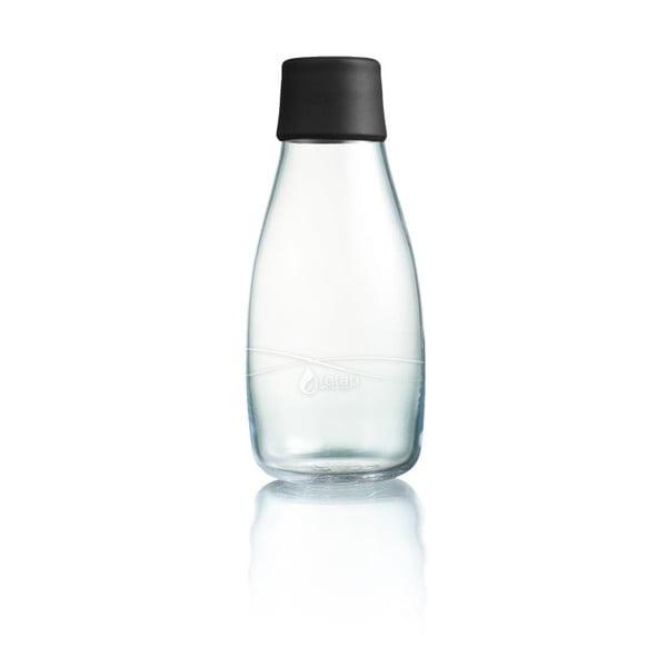 Černá skleněná lahev ReTap s doživotní zárukou, 300ml