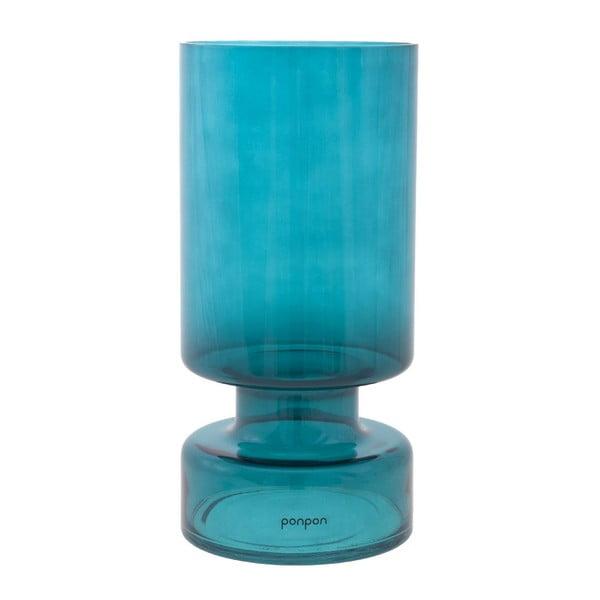Váza/svícen Delhi 31 cm, tyrkysová