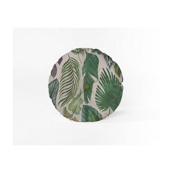 Pernă decorativă rotundă Velvet Atelier Leaves, ⌀ 45 cm