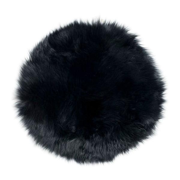 Kožešina na židli z novozélandské ovce Black, 37 cm